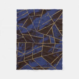 Couverture Polaire Bleu #941 abstrait