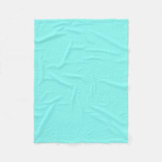 Couverture Polaire Bleu chic Girly d'oeufs de merles d'aqua de