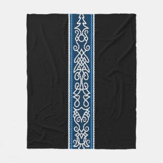 Couverture Polaire Bleu de motif de Viking