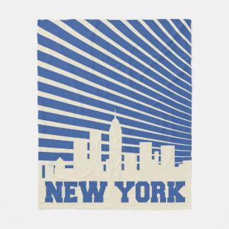 Couverture Polaire Bleu de New York City