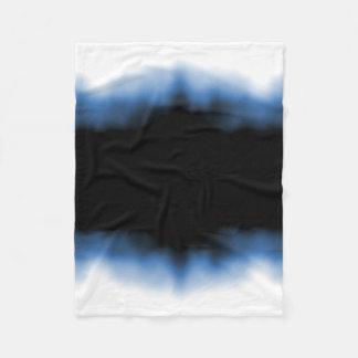 Couverture Polaire Bleu d'Ombre de tache d'encre