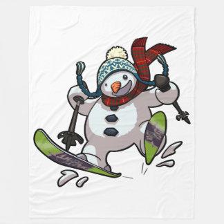 Couverture Polaire Bonhomme de neige de ski dans la bande dessinée