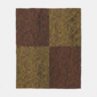 Couverture Polaire Brown deux a modifié la tonalité le motif de