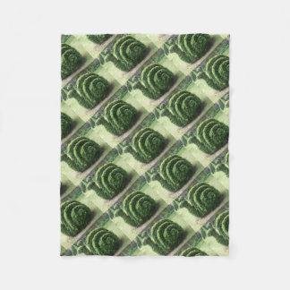 Couverture Polaire Buisson vert topiaire ornemental d'escargot de
