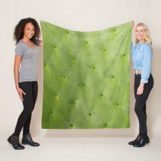 Couverture Polaire Cactus vert botanique tropical