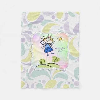 Couverture Polaire Cadeaux mignons de filleule d'ange personnalisés