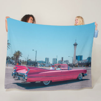 COUVERTURE POLAIRE CADILLAC ROSE