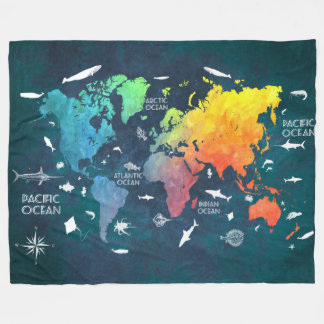 Couverture Polaire carte 12 du monde