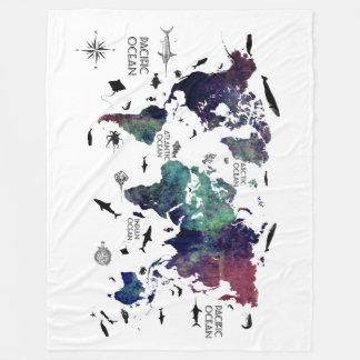 Couverture Polaire carte 7 du monde