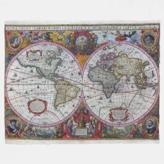Couverture Polaire Carte antique du monde