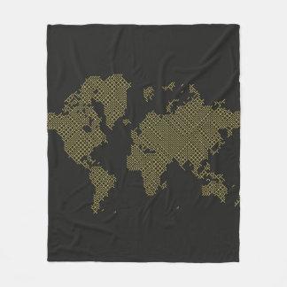Couverture Polaire Carte du monde de Digitals