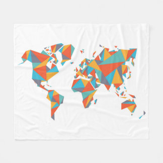 Couverture Polaire Carte géométrique abstraite du monde