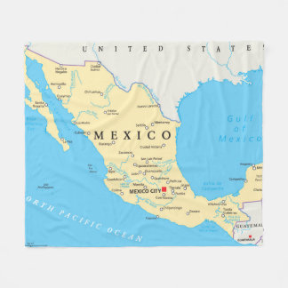 Couverture Polaire Carte politique du Mexique
