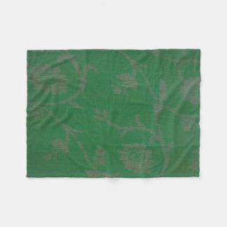 Couverture Polaire champ vert clair avec la conception argentée
