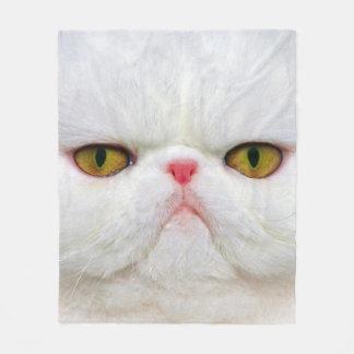Couverture Polaire Chat blanc