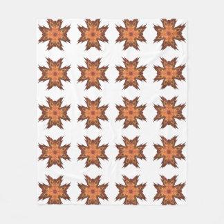 Couverture Polaire Conception d'art de fractale de regard de
