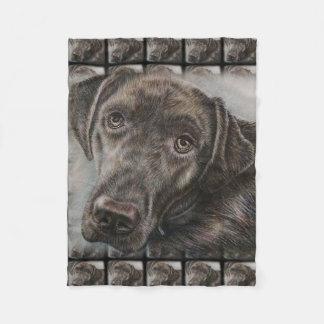 Couverture Polaire Conception de chien de Labrador de l'art animal