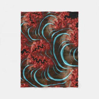 Couverture Polaire Conception de corail de chambre à coucher de