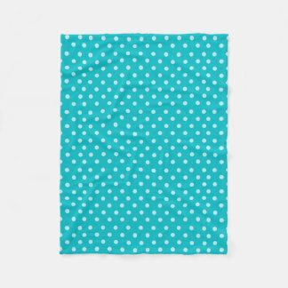 Couverture Polaire Conception de motif de point de polka de turquoise