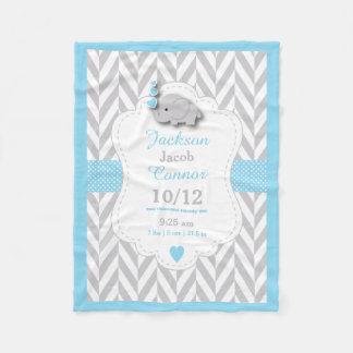Couverture Polaire Conception de souvenir de naissance d'éléphant de