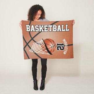 Couverture Polaire Conception de sport de basket-ball