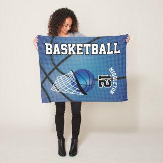 Couverture Polaire Conception de sport de basket-ball dans le bleu