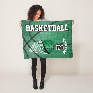 Couverture Polaire Conception de sport de basket-ball en vert