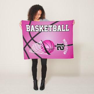 Couverture Polaire Conception de sport de basket-ball - rose