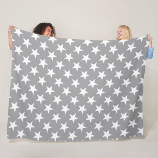 Couverture Polaire Conception grise élégante d'étoile de couleur