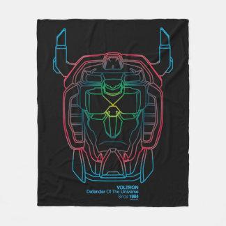 Couverture Polaire Contour pilote de tête de gradient de couleurs de