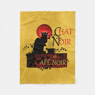 Couverture Polaire Conversation Noir et Café Noir