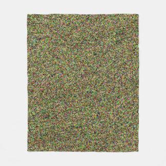Couverture Polaire Cool coloré de conception de motif de sable