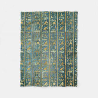 Couverture Polaire Copie de papier égyptienne d'or vintage