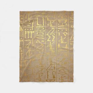 Couverture Polaire Copie égyptienne de papier de hiéroglyphes d'or