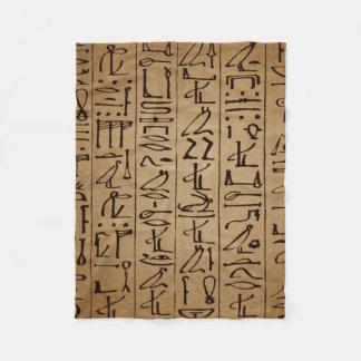 Couverture Polaire Copie égyptienne vintage de papier de hiéroglyphes
