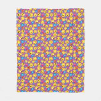 Couverture Polaire Copie mignonne d'Emoji sur lt Purple Blanket