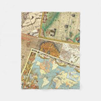 Couverture Polaire Copie vintage de carte