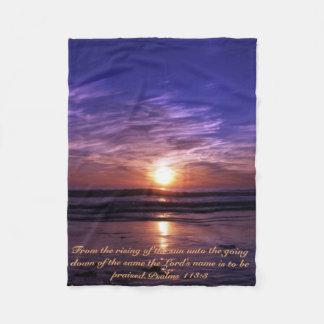Couverture Polaire Coucher du soleil d'océan