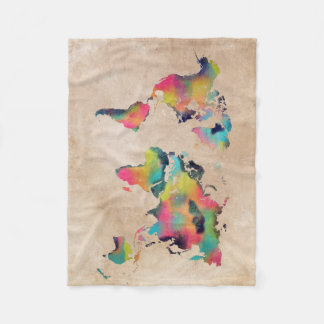 Couverture Polaire couleurs de carte du monde