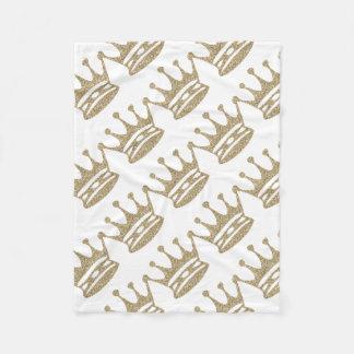 Couverture Polaire Couronne de scintillement d'or