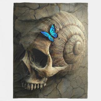 Couverture Polaire Crâne et papillon
