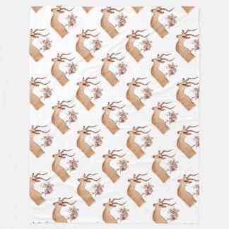 Couverture Polaire Croquis animal de dessin de faune d'antilope