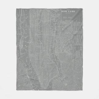 Couverture Polaire Croquis de carte de New York City