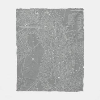 Couverture Polaire Croquis de carte de ville de Boston