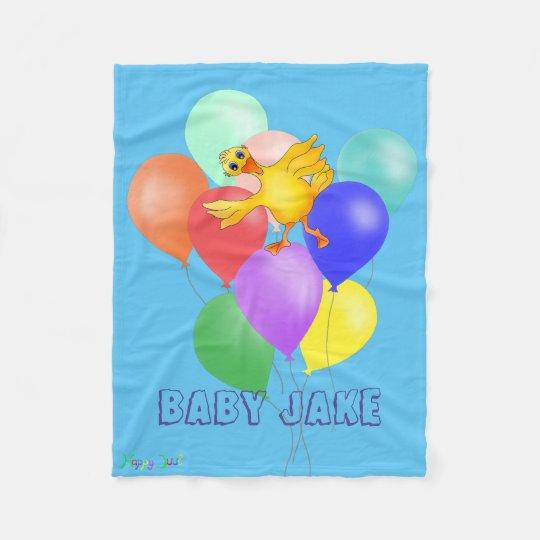 Couverture Polaire Danse mignonne de ballon par Happy Juul Company