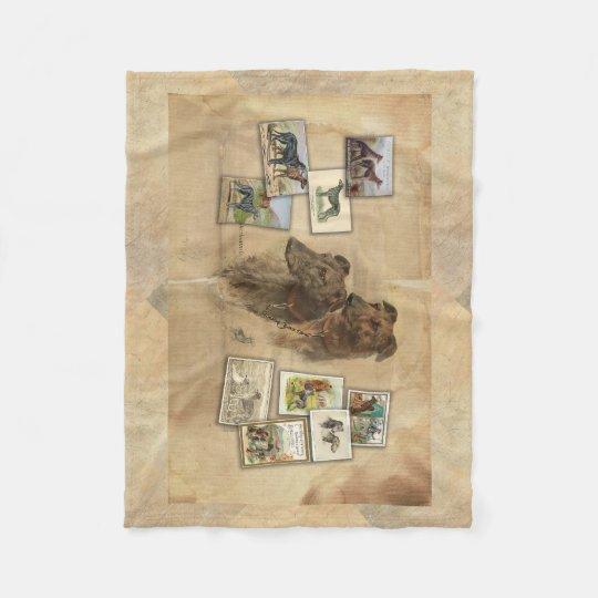 Couverture Polaire Deerhound vintage
