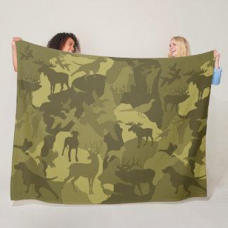 Couverture Polaire Désert Cammo/camoflauge/deer/phesant/moose/elk/dog