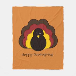 Couverture Polaire Dinde de thanksgiving