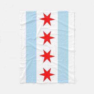 Couverture Polaire Drapeau de Chicago, l'Illinois
