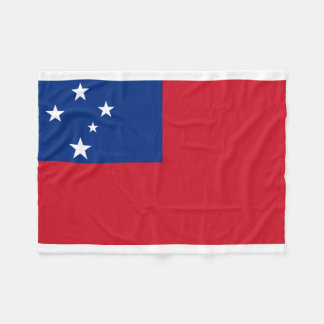 Couverture Polaire Drapeau national du monde du Samoa